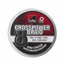Plecionka DAM Crosspower 8-Braid 0,13mm 110m 7,2kg